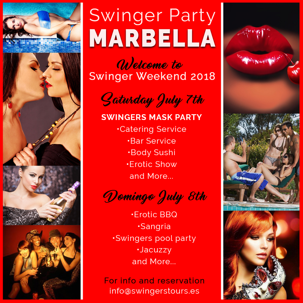 swingers weekend, marbella swingers party, fiesta swinger marbella, swingers tours